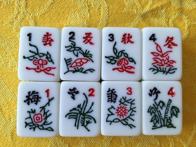 mahjong kostky